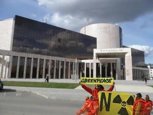 Protesta contra la central nuclear de León. Cuestión de imagen.