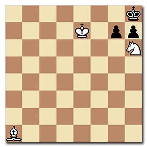 Si mueven blancas, ganan en tres. Pero si mueven negras...