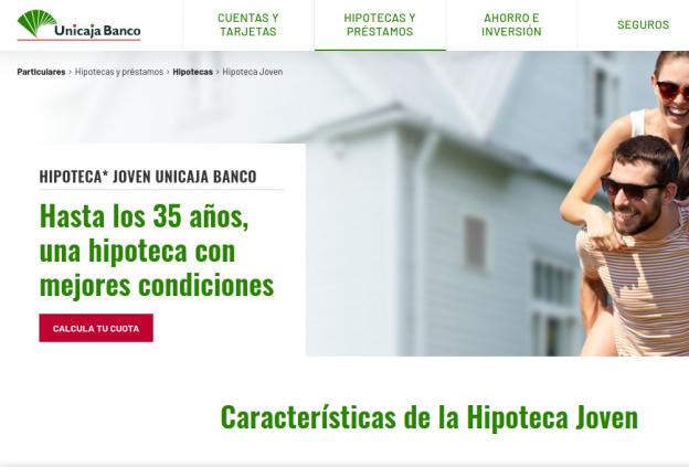 Hipoteca Joven de Unicaja Banco